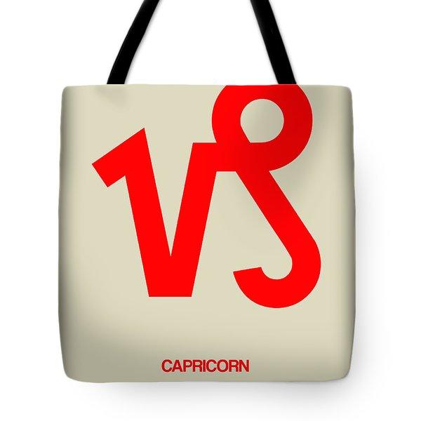 Capricorn Zodiac Sign Red Tote Bag