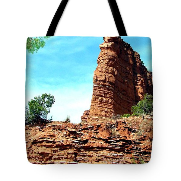 Tote Bag featuring the photograph Caprock Canyon Red by Linda Cox