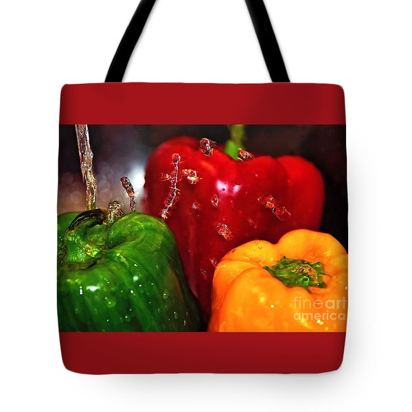 Capsicum In The Wash Tote Bag by Kaye Menner