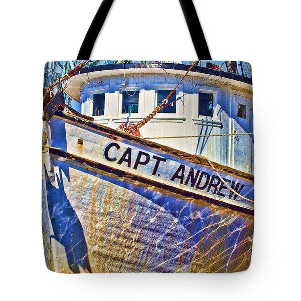 Capt Andrew Shrimper Tote Bag