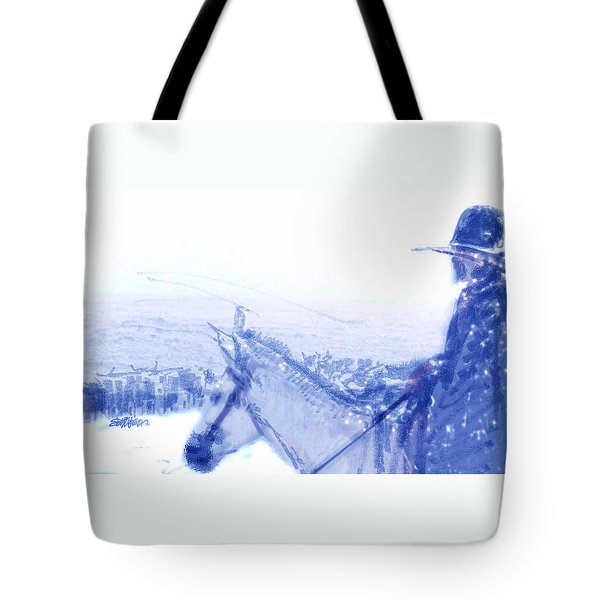 Capt. Call In A Snowstorm Tote Bag by Seth Weaver