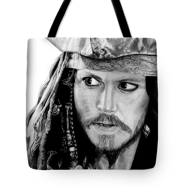 Captain Jack Sparrow Tote Bag by Kayleigh Semeniuk