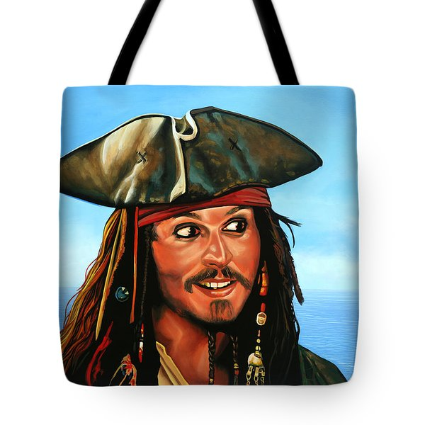 Captain Jack Sparrow Painting Tote Bag