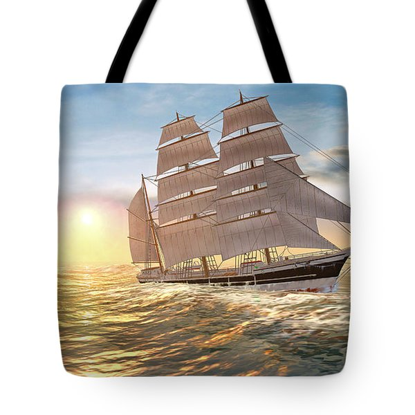 Captain Larry Paine Clippership Tote Bag