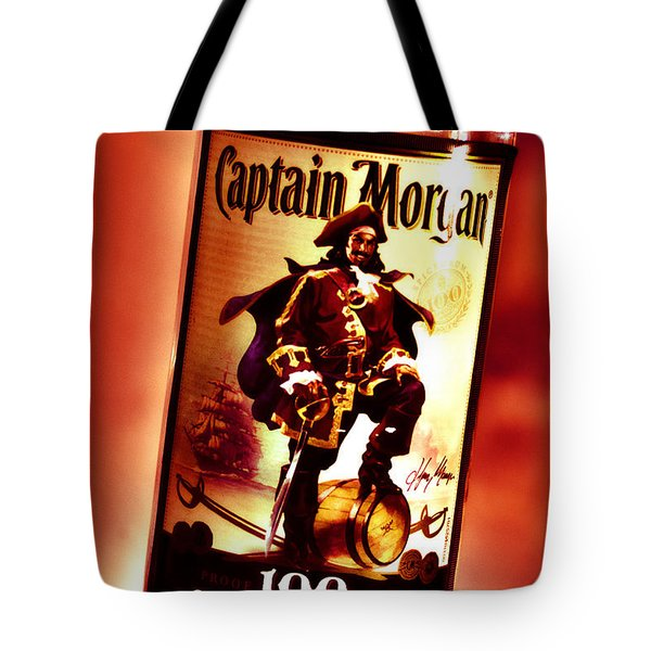 Captain Morgan Red Toned Tote Bag