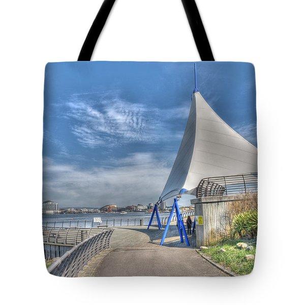 Captain Scott Exhibition Sails Tote Bag by Steve Purnell