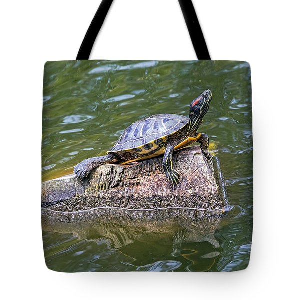 Tote Bag featuring the photograph Captain Turtle by Kate Brown