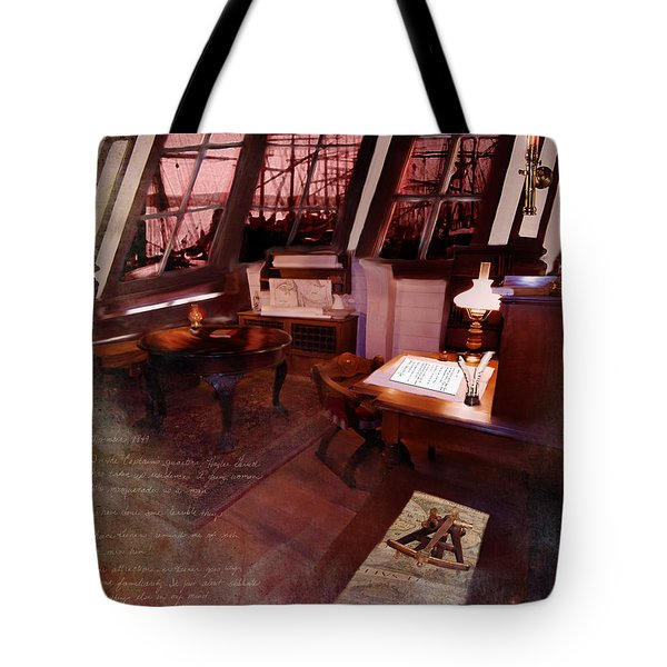 Captain's Cabin On The Dicey Tote Bag