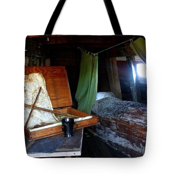 Captain's Quarters Aboard The Mayflower Tote Bag