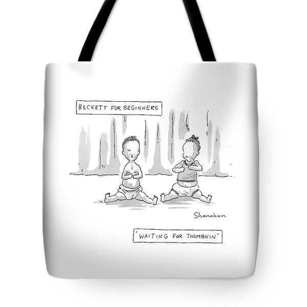 Captionless: Beckett For Beginners: Waiting Tote Bag