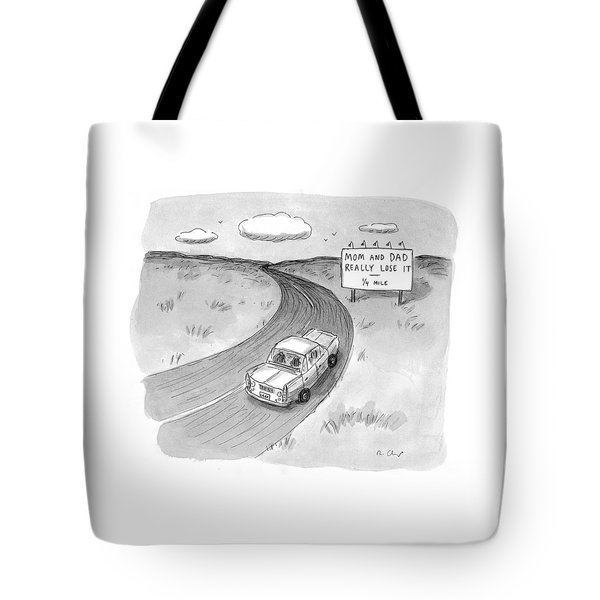 Captionless 'mom And Dad Really Lose It  -  1/4 Tote Bag