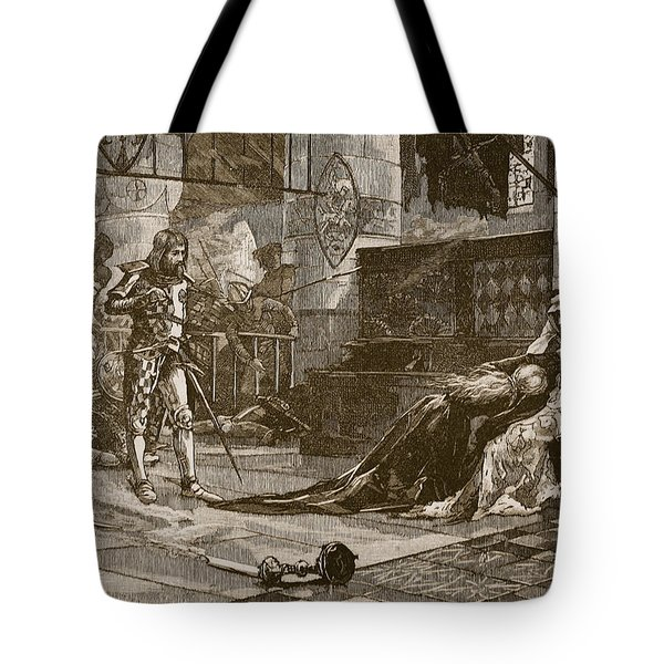 Capture Of Bruces Wife And Daughter Tote Bag by Charles Ricketts