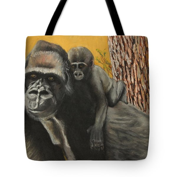 Tote Bag featuring the painting Captured Bernigie by Jeanne Fischer