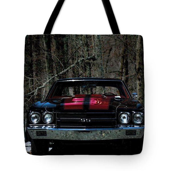 Car Art Chevy Chevelle Ss Hdr Tote Bag by Lesa Fine