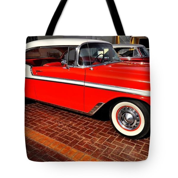 Car - Bel Air - Red Tote Bag by Liane Wright
