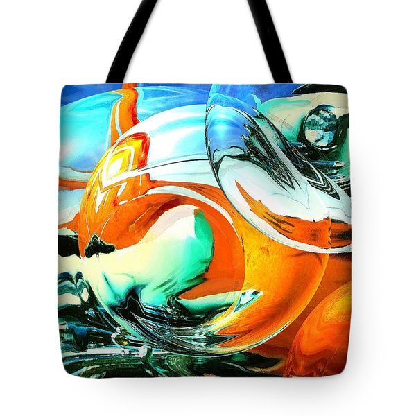 Car Fandango - Abstract Art Tote Bag by Art America Gallery Peter Potter