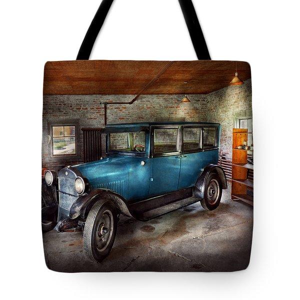 Car - Granpa's Garage  Tote Bag by Mike Savad