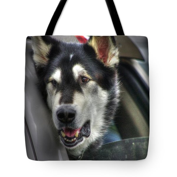 Car Ride Tote Bag by Dennis Baswell