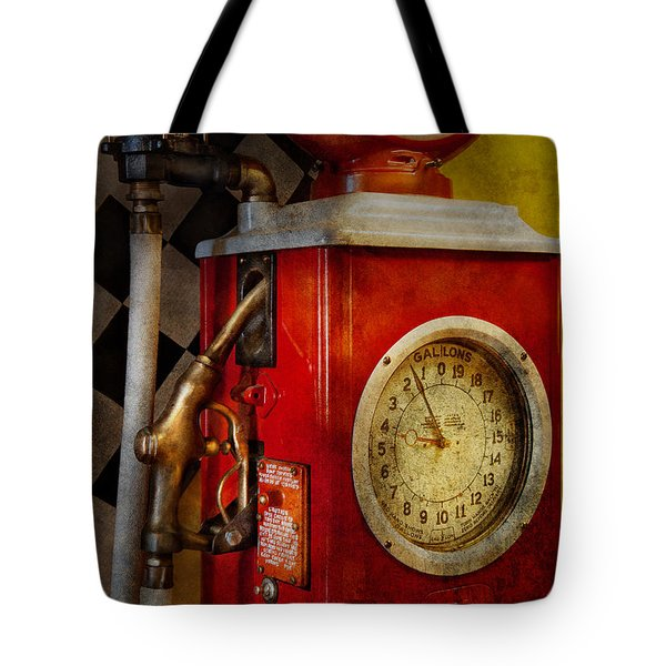 Car - Station - 19 Gallons  Tote Bag by Mike Savad