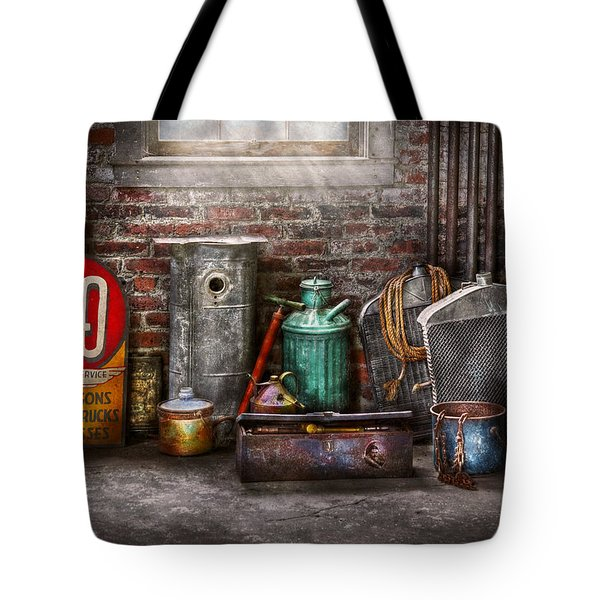 Car - Station - I Fix Cars  Tote Bag by Mike Savad