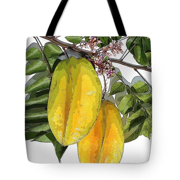 Carambolas Starfruit Two Up Tote Bag by Olivia Novak