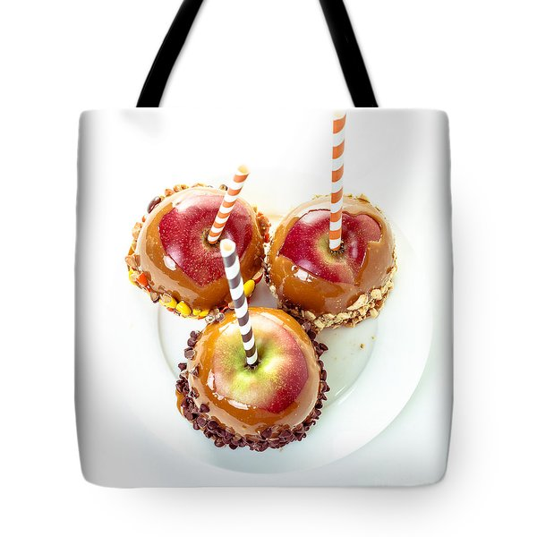 Caramel Apples Tote Bag by Edward Fielding