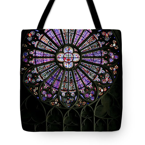 Carcassonne Rose Window Tote Bag