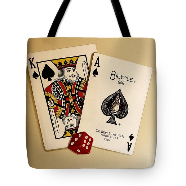 Card Game Room Mural Tote Bag