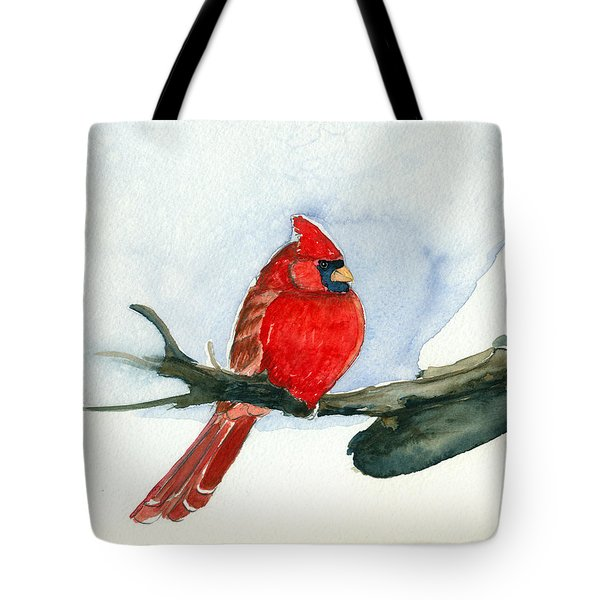 Cardinal Tote Bag by Katherine Miller