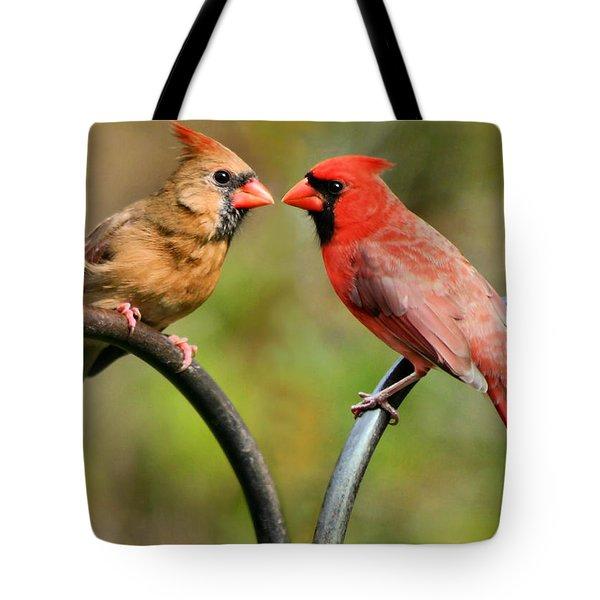 Cardinal Love Tote Bag