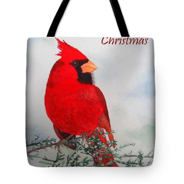 Cardinal Merry Christmas Tote Bag