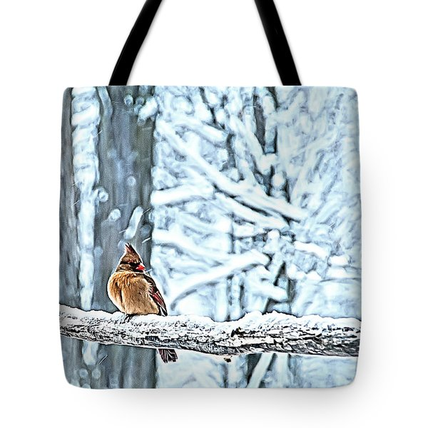Cardinal No Mate To Keep Warm Tote Bag by Randall Branham
