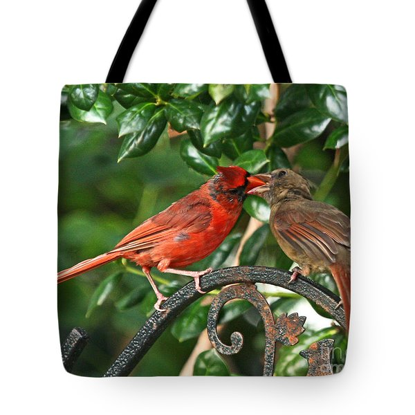 Cardinal Bird Valentines Love  Tote Bag