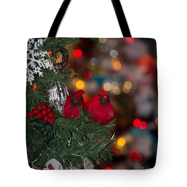 Tote Bag featuring the photograph Cardinals by Patricia Babbitt