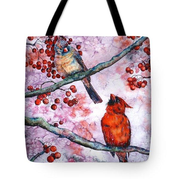 Cardinals  Tote Bag by Zaira Dzhaubaeva
