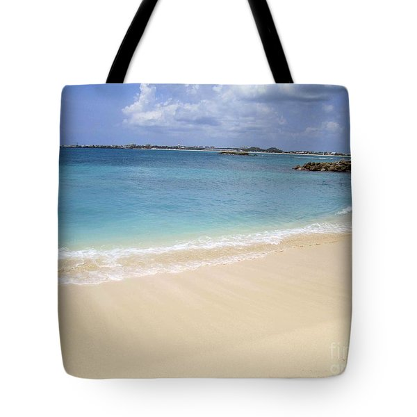 Tote Bag featuring the photograph Caribbean Beach Front by Fiona Kennard