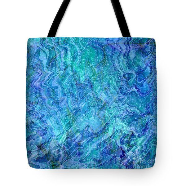 Caribbean Blue Abstract Tote Bag by Carol Groenen