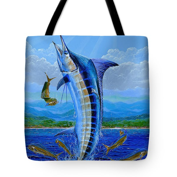 Caribbean Blue Off0041 Tote Bag by Carey Chen