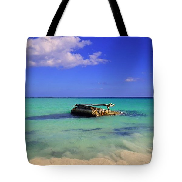 Tote Bag featuring the photograph Caribbean Colors  by Eti Reid
