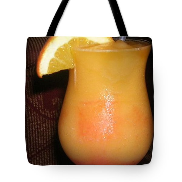 Tote Bag featuring the photograph Caribbean Fuzzy Peach Naval by Emmy Marie Vickers