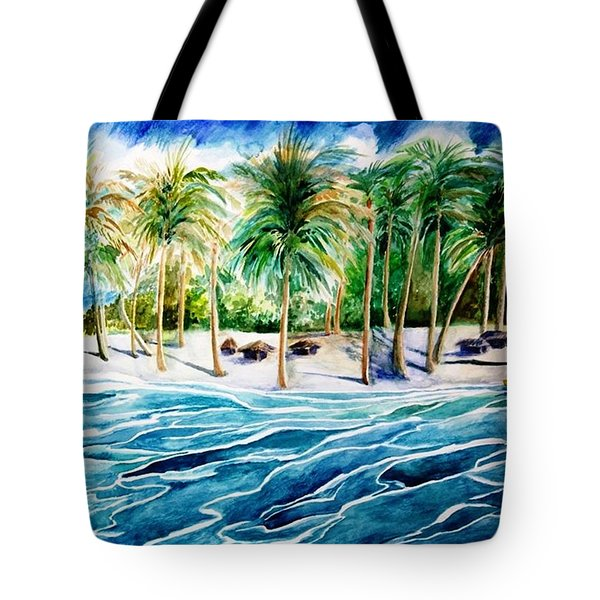 Caribbean Harbor Tote Bag