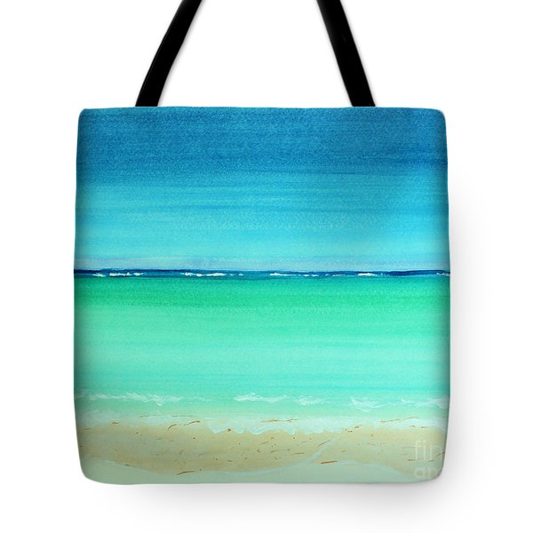 Caribbean Ocean Turquoise Waters Abstract Tote Bag