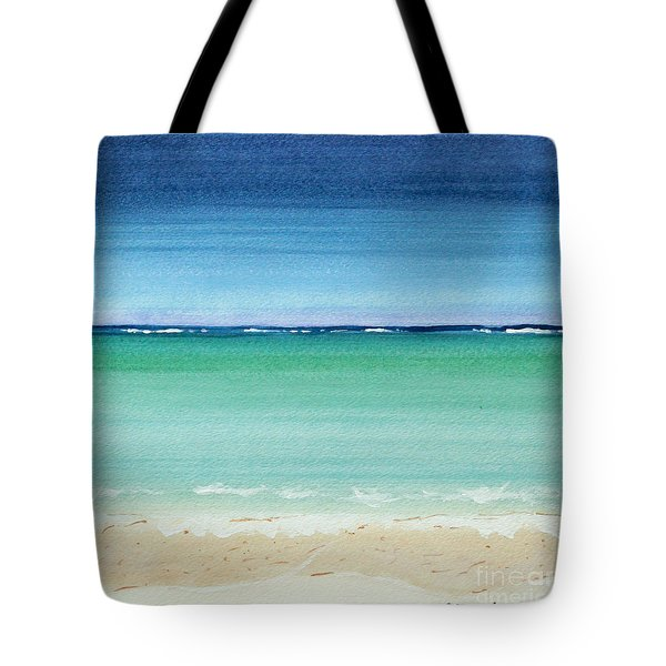 Reaf Ocean Turquoise Waters Square Tote Bag
