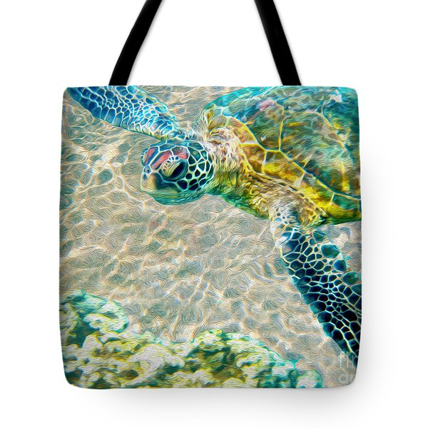 Beautiful Sea Turtle Tote Bag