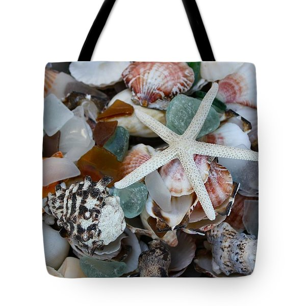 Caribbean Shells Tote Bag