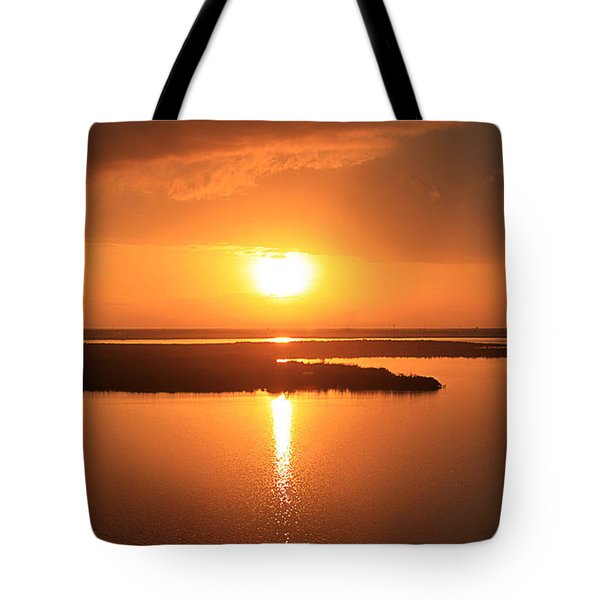 Caribbean Sunset Tote Bag by Milena Ilieva