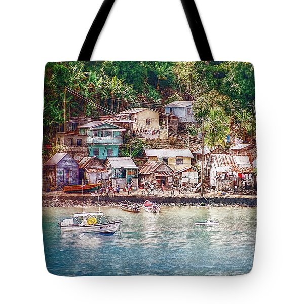 Tote Bag featuring the photograph Caribbean Village by Hanny Heim