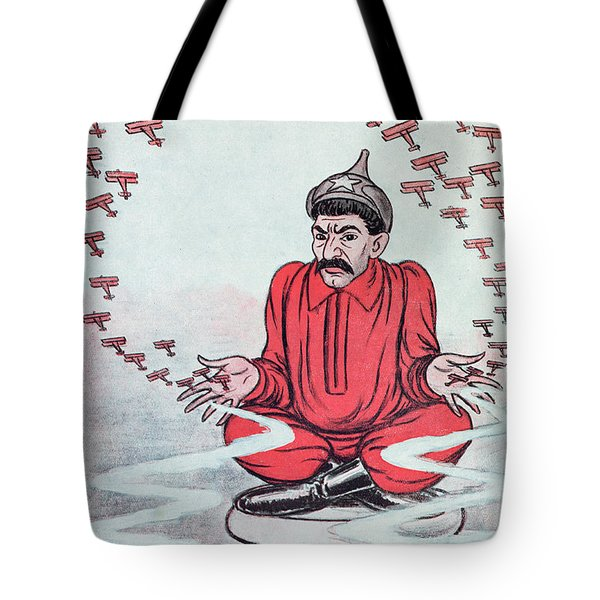 Caricature Of Stalin Tote Bag by Adrien Barrere