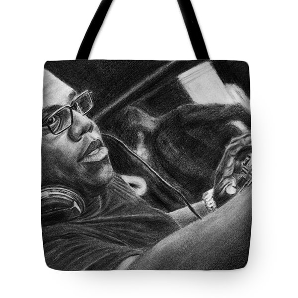 Carl Cox Pencil Drawing Tote Bag