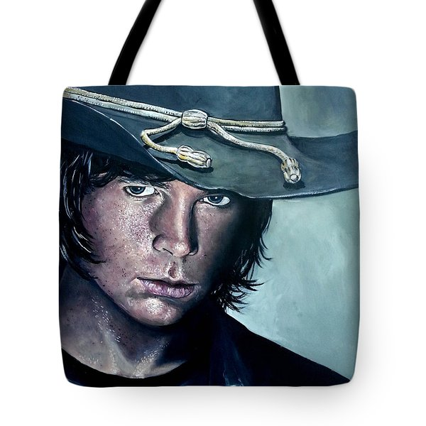 Carl Grimes Tote Bag by Tom Carlton